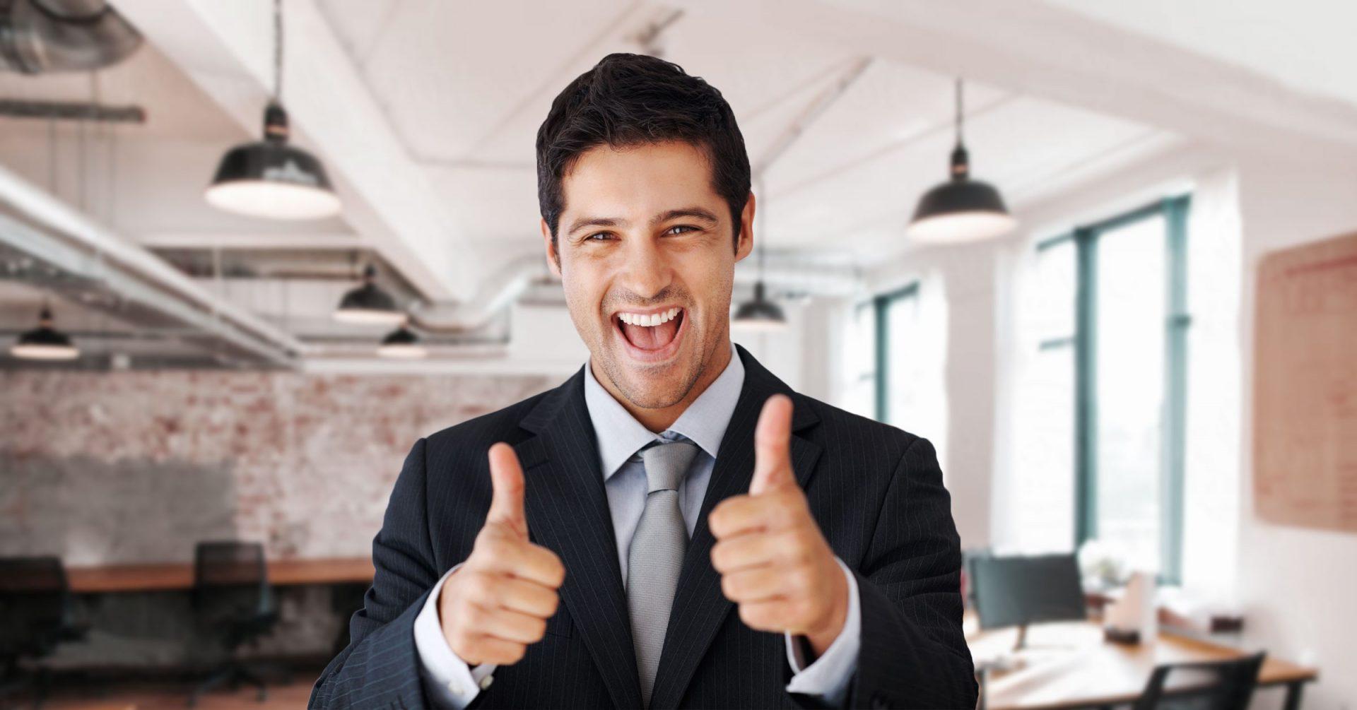 Happy Employee With Generous Benefits