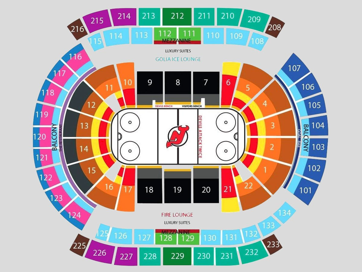 Devils Seating Chart Prudential Center