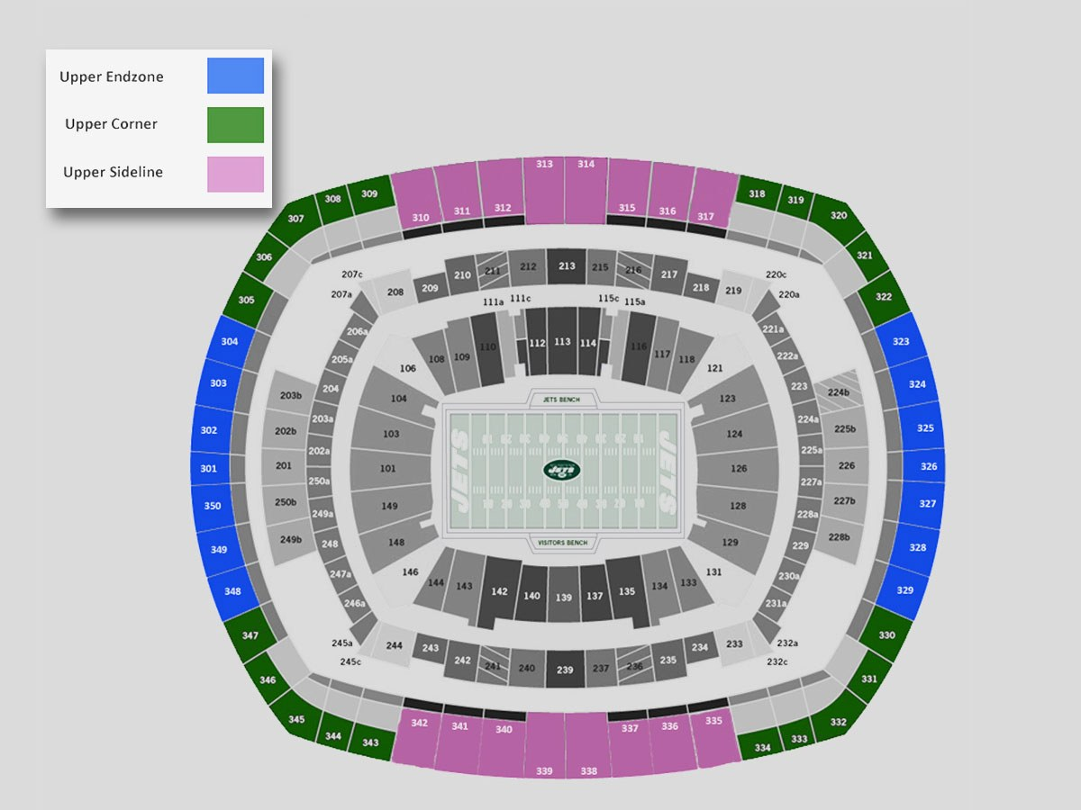 Jets Seating Chart MetLife Stadium
