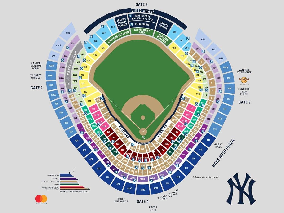 Yankees Stadium Seating Chart