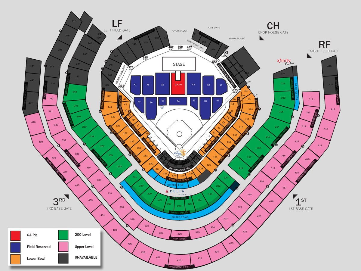 Atlanta Braves Seating Chart Truist Park