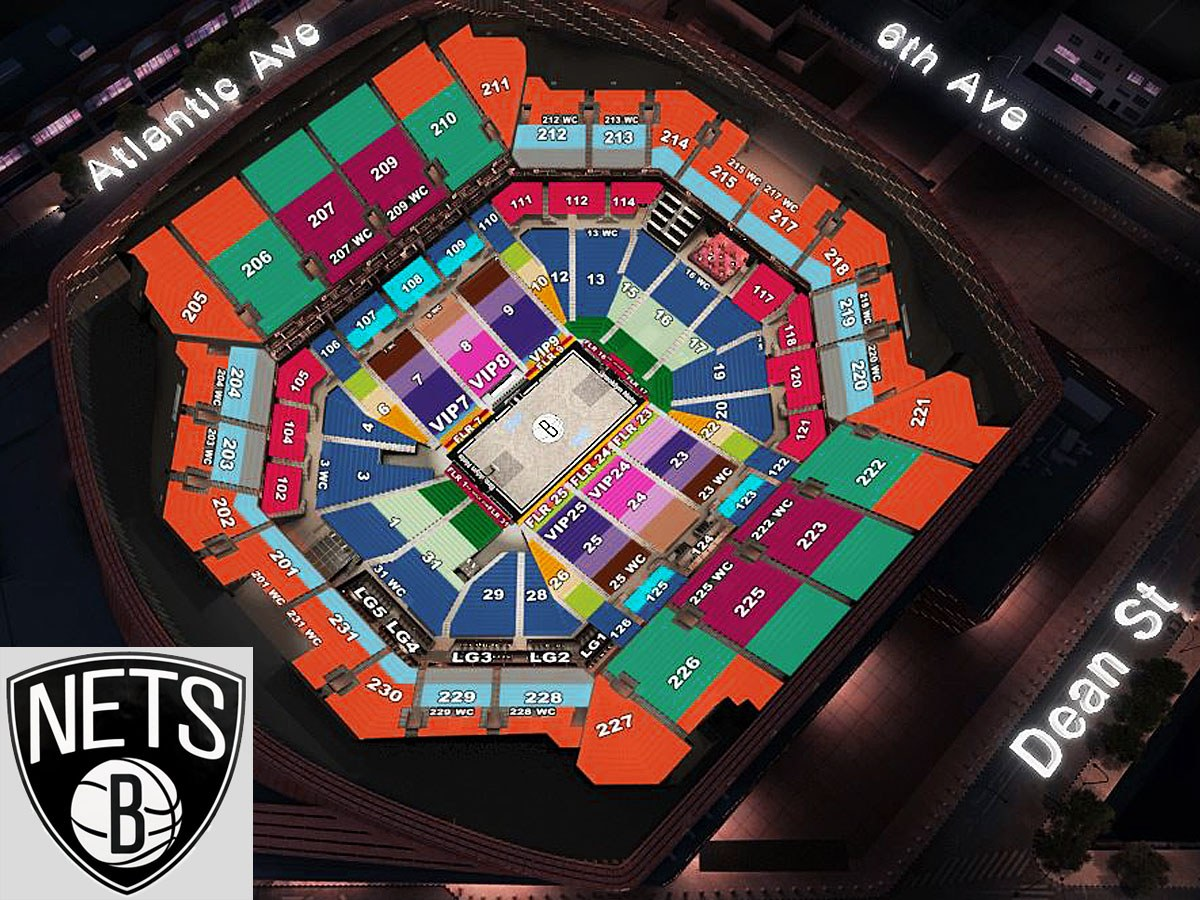 Nets Seating Chart Barclays Center