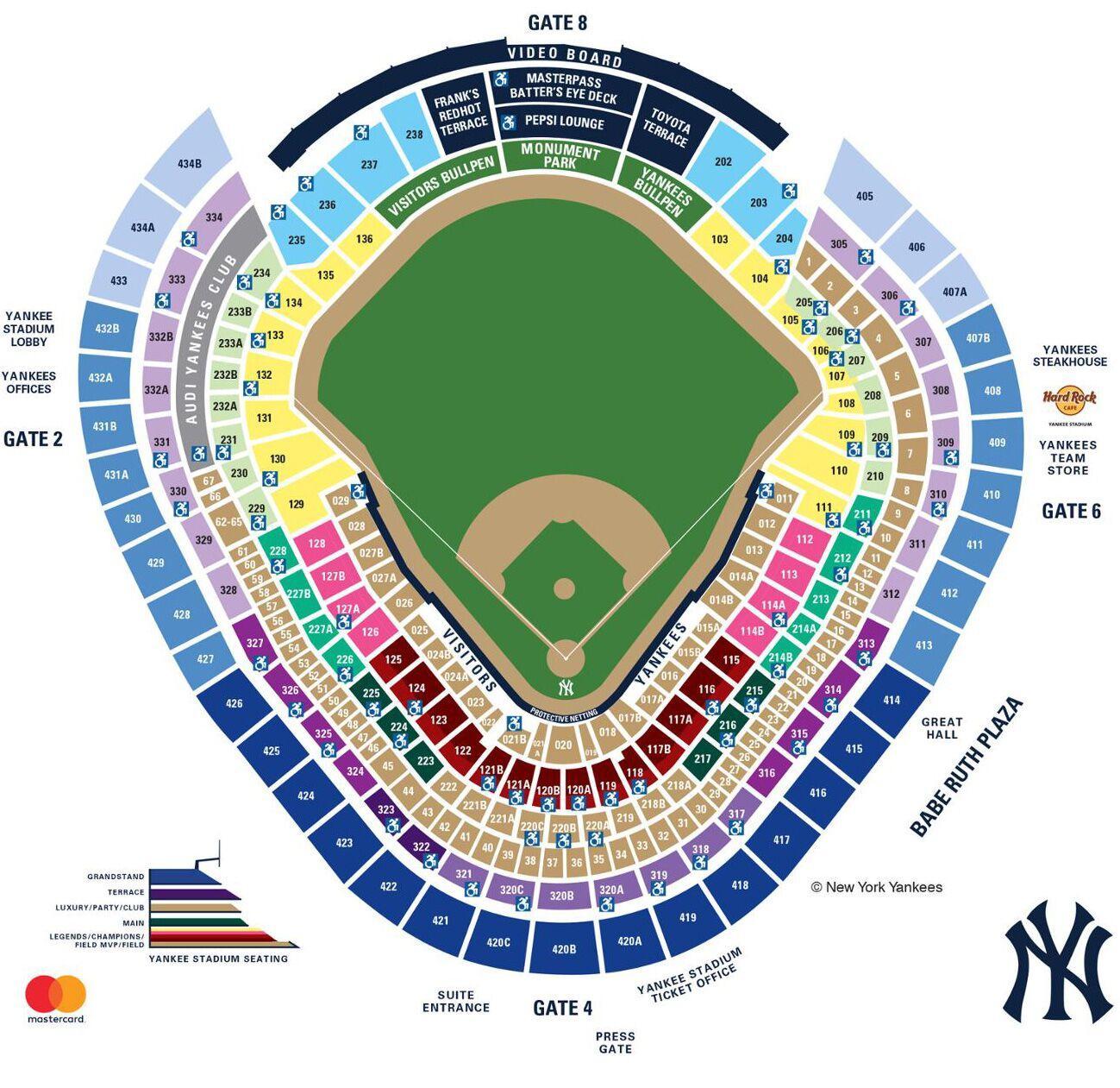 Yankee Seating Chart